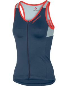 Castelli Solare dames top-Donker staal blauw-S