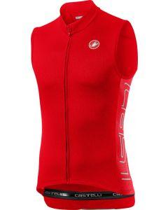Castelli Entrata V wielershirt mouwloos-Fiery rood-S