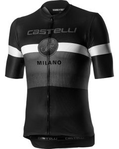 Castelli Milano wielershirt korte mouw-Zwart-3XL