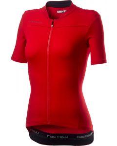 Castelli Anima 3 dames wielershirt korte mouw-Rood-Zwart-XL