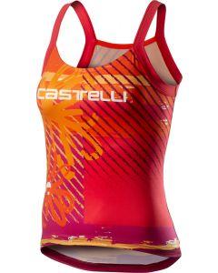Castelli Upf 0 dames top-Oranje bloemen-S