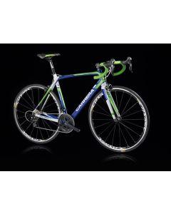 Carrera Veleno frameset -A6-48 Mat blauw-Groen-XL