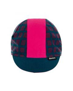Santini Grido Cotton Cycling cap-Camelia roze