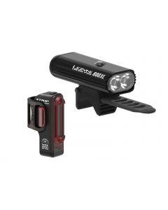 Lezyne Micro Pro 800XL / Strip Drive verlichtingsset-Zwart