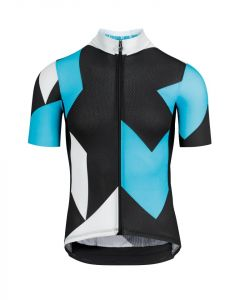 Assos Fastlane Rock wielershirt korte mouw-Dam blue-XL
