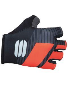 Sportful Bodyfit Team wielrenhandschoenen-Black-Coral fluo-L