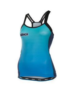 Bioracer Vesper Radient dames tan top-Blauw-Radiant-M