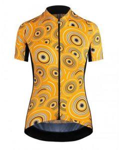 Assos Uma GT Camouflage dames wielershirt korte mouw-Oranje-M
