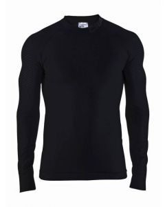 Craft Warm Intensity Crewneck ondershirt  lange mouw-Zwart-Zwart-XL
