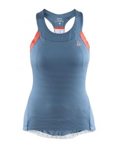 Craft Hale Glow dames singlet-Blauw-XL