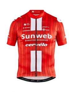 Craft Team Sunweb Replica wielershirt korte mouw-Sunweb red-M