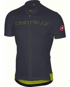 Castelli Prologo V wielershirt korte mouw-Antraciet-S