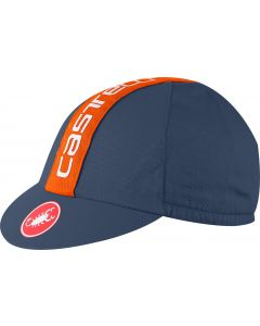 Castelli Retro 3 cap-Moonlight blue-Orange