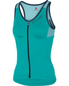 Castelli Solare dames top-Turquoise-S