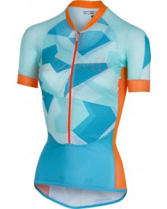Castelli Climber's dames wielershirt korte mouw-Sky blue-Orange-XL
