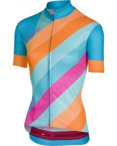 Castelli Prisma dames wielershirt korte mouw-Multicolor-Sky blue-L