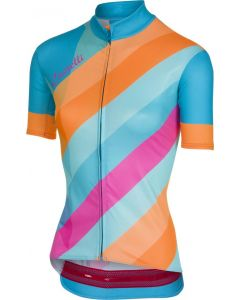 Castelli Prisma dames wielershirt korte mouw-Multicolor-Sky blue-XL