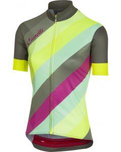 Castelli Prisma dames wielershirt korte mouw-Multicolor-Forest gray-L