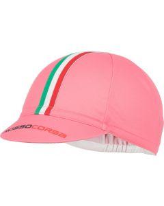 Castelli Rosso Corsa Cycling cap-Roze