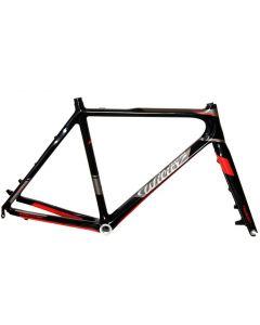 Wilier 101 Cross disc carbon frameset-Zwart-Rood-Grijs-L