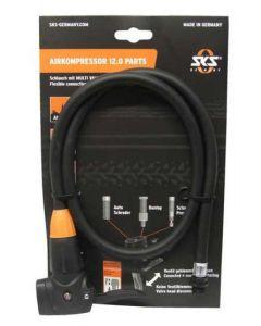 SKS slang met multivalvekop voor Airkompressor 12.0-Zwart