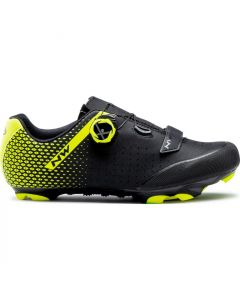 Northwave Origin Plus 2 mountainbikeschoenen-Zwart-Fluorgeel-40