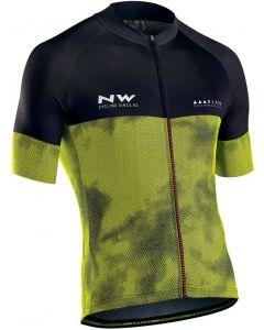 Northwave Blade 3 wielershirt korte mouw-Fluorgeel-Zwart-M