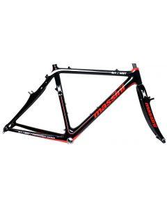 Massini MST 0.1 cyclocross frameset-Zwart-Rood-Wit-52