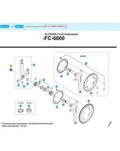 Shimano FC-6800 Ultegra crankbout
