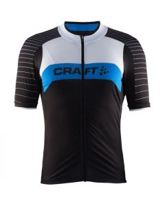 Craft Gran Fondo wielershirt korte mouw-Zwart-blauw