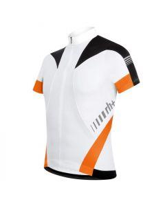 Zero RH+ Vertex wielershirt korte mouw-Wit-Oranje
