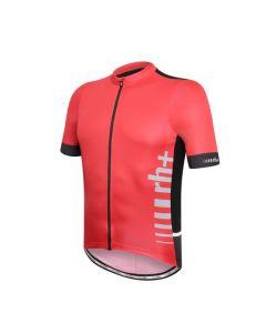 Zero RH+ Logo Evo wielershirt korte mouw-rood