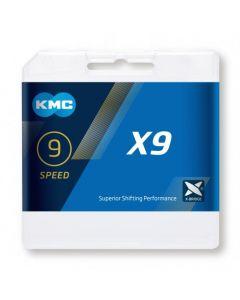 KMC X9 9sp ketting-Zilver
