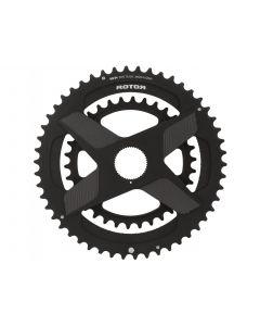 Rotor Round-Ring DM kettingbladset-Zwart-53x39