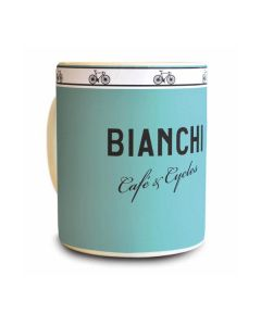 Bianchi Cafè & Cycle Coffee Mug-Celeste