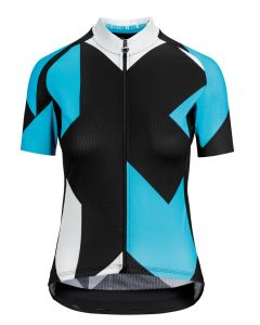Assos Fastlane Rock dames wielershirt korte mouw-Dam blue-XL