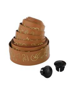 Cinelli Hobo Alphabet stuurlint-Volee bruin