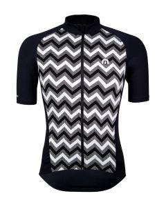 Megmeister Premium Woven Zig Zag wielershirt korte mouw