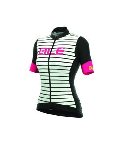 Alé R-EV1 Marina dames wielershirt korte mouw-Black-White-3XL