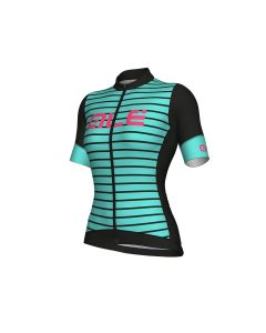 EV1 Marina dames wielershirt korte mouw-Black-Turquoise-3XL
