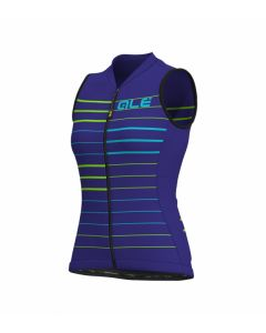Alé Solid Ergo dames wielershirt mouwloos-Blauw-Turquoise-S