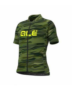 Alé Rock Kids wielershirt korte mouw-Groen-Fluorgeel-12Y 152