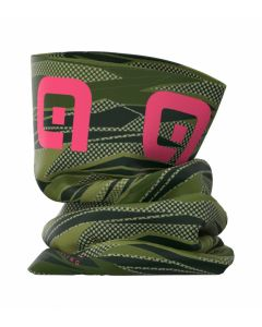 Alé Rock nekwarmer-Groen-Roze