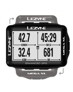 Lezyne Mega XL GPS fietscomputer-Zwart
