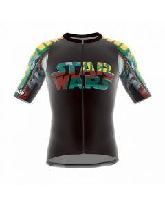 Bioracer Star Wars Logo wielershirt korte mouw-Groen-S