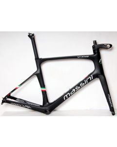 Massini Stradale disc frameset-Mat zwart-Zilver-S