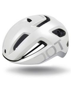 Dotout Coupé Pro fietshelm-Pearl matt white-Shiny light grey-L/XL