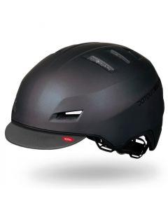 Dotout Downtown Cap Visor fietshelm-Mat metalic zwart