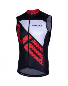 Nalini Volata 2.0 wielershirt mouwloos-Zwart-Rood-S
