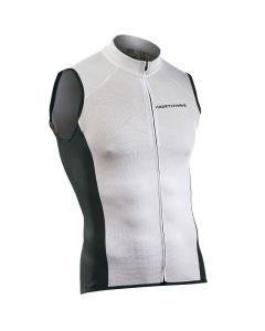 Northwave Force wielershirt mouwloos-Wit-2XL